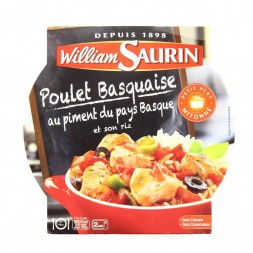 Poulet Basquaise au piment du pays basque et son riz William Saurin - 285g