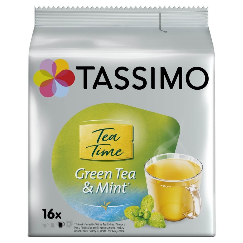 Tassimo green tea pods with mint 16U