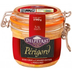 Whole duck foie gras Périgord Delpeyrat - 190g jar