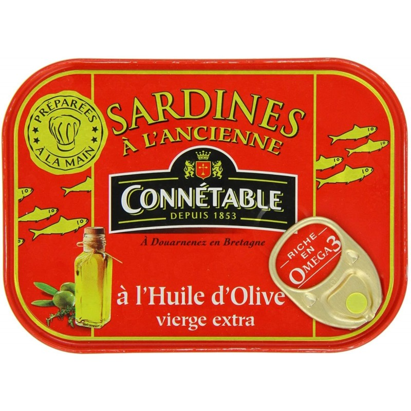 Sardines in extra virgin olive oil Connétable 115g