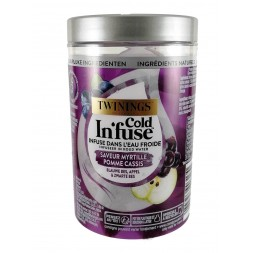 Twinings Cold Infuse Myrtille Pomme Cassis - 10 sachets